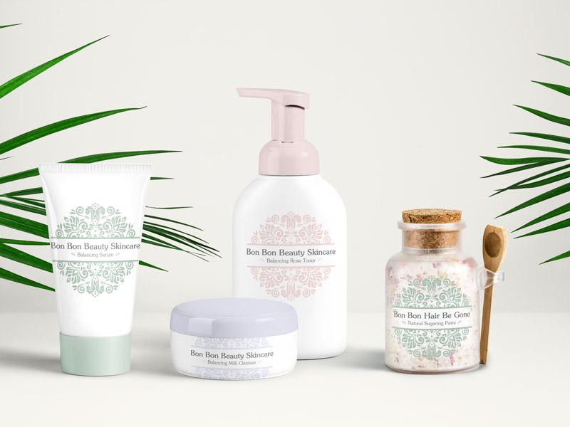 branding and identity for bon bon beauty