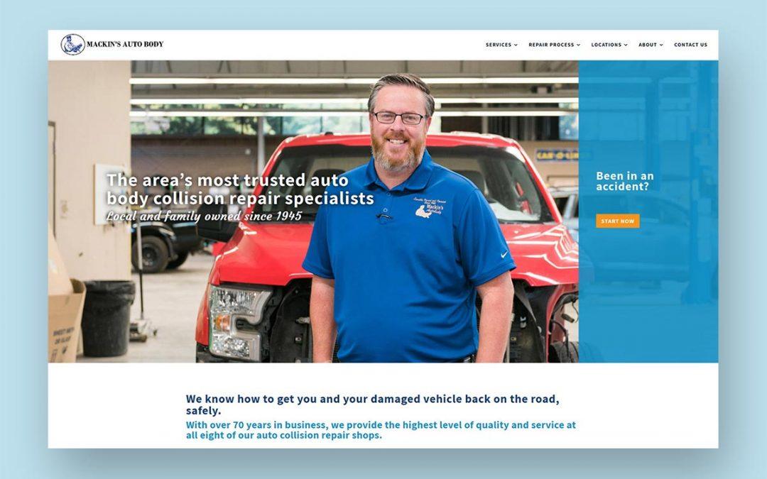 Mackins Auto Body Web Development