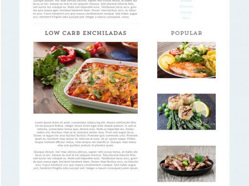 My Big Fat Low Carb Life – Web Design